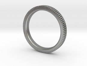 Ø 17.45 Mm Glitter Ring/Ø  0.687 inch in Natural Silver