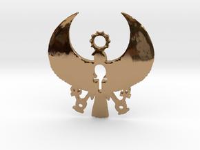 Heru Pendant: 3 Keys of Life in Polished Brass