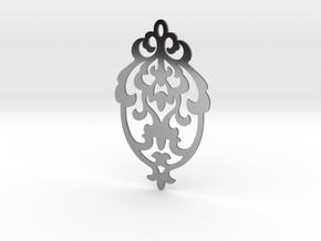 BlakOpal Victorian Damask Earring in Fine Detail Polished Silver