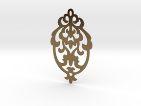 BlakOpal Victorian Damask Earring in Polished Bronze
