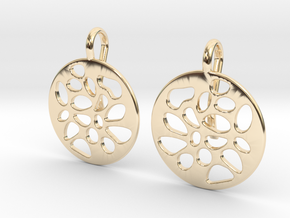 PIERCED EARRINGS in 14K Yellow Gold