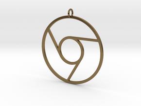 Google Chrome Pendant in Polished Bronze