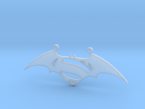 Batman and Superman Pendant in Smooth Fine Detail Plastic