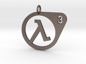 Half Life 3 Confirmed Pendant in Polished Bronzed Silver Steel