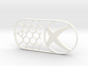 Xbox Dog Tag in White Processed Versatile Plastic