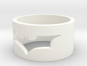 Batman Ring Size 10 in White Processed Versatile Plastic