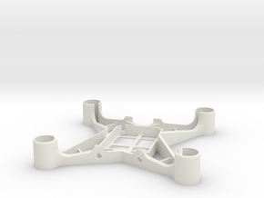 60mm Hubsan X4 frame for 8,5mm motors in White Natural Versatile Plastic