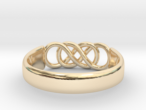 Double Infinity Ring 14.9mm Size4 in 14K Yellow Gold