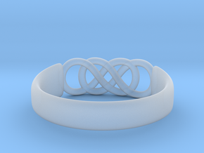 Double Infinity Ring 14.9mm Size4 in Smooth Fine Detail Plastic
