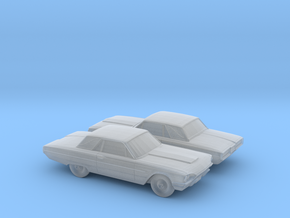 1/160 2x 1964 Ford Thunderbird in Smooth Fine Detail Plastic