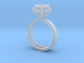 Diamond Ring US 7 3/4 in Smooth Fine Detail Plastic