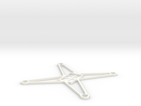 Sl85 4 Super light frame for Hubsan X4  in White Processed Versatile Plastic