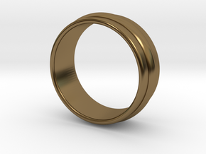 Ø 16.51 Mm Classic Beauty Ring Ø 0.650 Inch in Polished Bronze