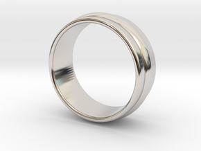 Ø 16.51 Mm Classic Beauty Ring Ø 0.650 Inch in Rhodium Plated Brass