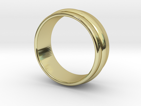 Ø 16.51 Mm Classic Beauty Ring Ø 0.650 Inch in 18k Gold Plated Brass