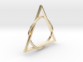 Pendant sees everything! in 14k Gold Plated Brass