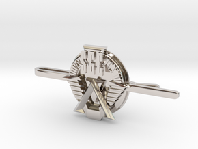 SGC Tie Clip in Rhodium Plated Brass