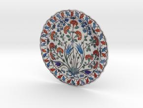 Iznik Polychrome Pottery Dish in Full Color Sandstone