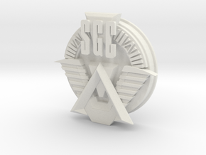 SGC logo. All materials in White Strong & Flexible