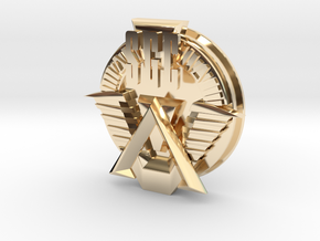 SGC logo. All materials in 14k Gold Plated Brass