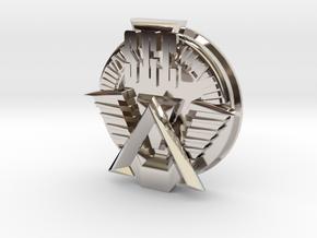 SGC logo. All materials in Rhodium Plated Brass