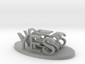 Yes/No in Metallic Plastic
