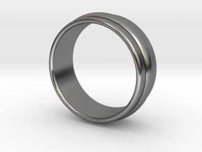 Ø19.84 Mm Classic Beauty RIng Ø0.781 Inch in Polished Silver