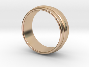 Ø19.84 Mm Classic Beauty RIng Ø0.781 Inch in 14k Rose Gold Plated Brass