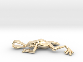 Poison Arrow Frog Pendant in 14K Yellow Gold