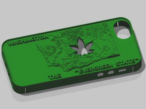 iPhone 5 Washington Marijuana Leaf in Green Processed Versatile Plastic