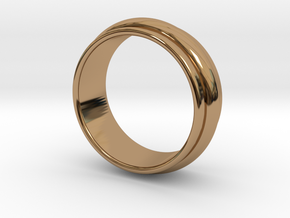 Ø 19.62 Mm Classic Beauty Ring Ø 0.772 Inch in Polished Brass