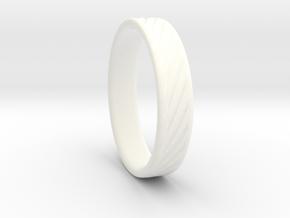 Hollow lines Ring in White Processed Versatile Plastic