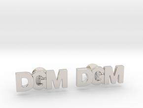 Monogram Cufflinks DGM in Rhodium Plated Brass