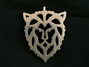 Lion Pendant in Stainless Steel