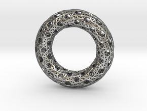 0482 Tilings [3,3,3,3,6] on Torus in Fine Detail Polished Silver