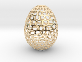 Running - Decorative Egg - 2.3 inches in 14K Yellow Gold