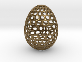 Running - Decorative Egg - 2.3 inches in Polished Bronze