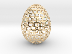 Running - Decorative Egg - 2.3 inches in 14k Gold Plated Brass