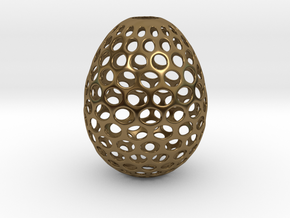 Aerate - Decorative Egg - 2.2 inches in Polished Bronze