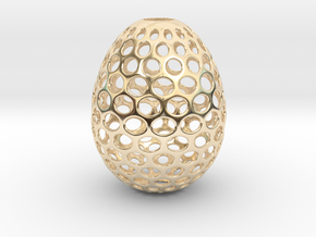 Aerate - Decorative Egg - 2.2 inches in 14k Gold Plated Brass