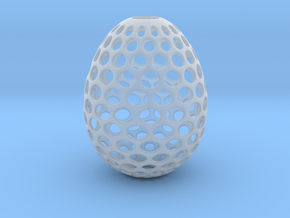 Aerate - Decorative Egg - 2.2 inches in Smooth Fine Detail Plastic