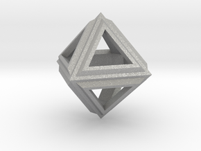 Octahedron Frame Pendant V2 Small in Aluminum