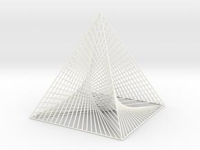 Small Square Pyramid Curve Stitching in White Processed Versatile Plastic