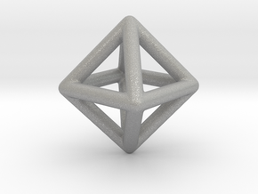 Minimal Octahedron Frame Pendant Small in Aluminum