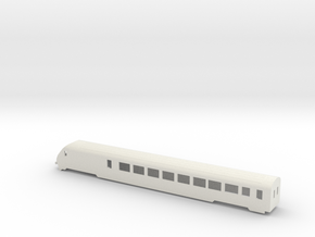 SBB IC Stwg Wagenkasten (V2) Scale TT in White Strong & Flexible: 1:120