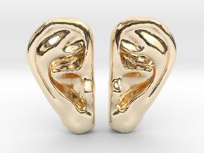 Ear Stud Earrings in 14k Gold Plated Brass