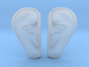Ear Stud Earrings in Smooth Fine Detail Plastic