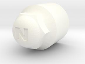 Bolzenkappe für Ford Nugget Stahlfelgen  in White Processed Versatile Plastic