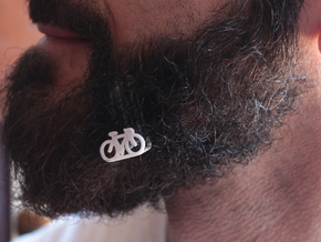Bike for beard - lateral wearing in White Natural Versatile Plastic