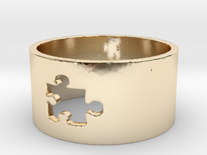 Puzzle Piece Ring Size 8 in 14K Yellow Gold